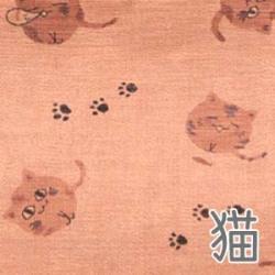 柿渋染2FP手提げ猫